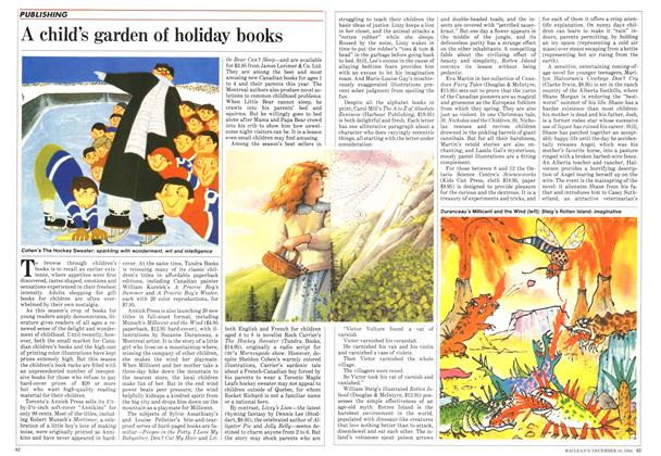 Article Preview: A child's garden of holiday books, December 1984 | Maclean's