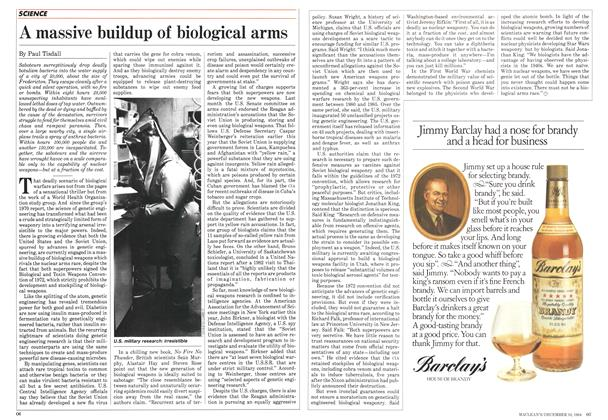 Article Preview: A massive buildup of biological arms, December 1984 | Maclean's