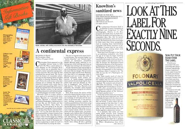 Article Preview: Knowlton's sanitized news, December 1984 | Maclean's