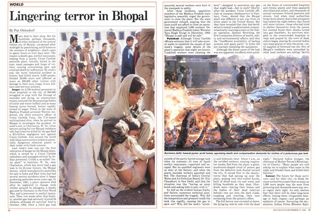 Article Preview: Lingering terror in Bhopal, December 1984 | Maclean's