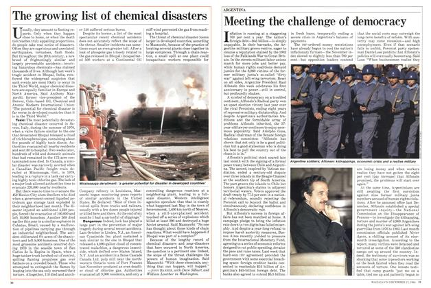 Article Preview: The growing list of chemical disasters, December 1984 | Maclean's