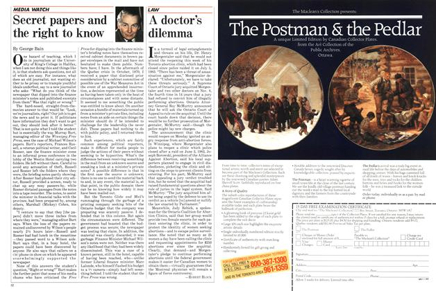 Article Preview: A doctor's dilemma, December 1984 | Maclean's