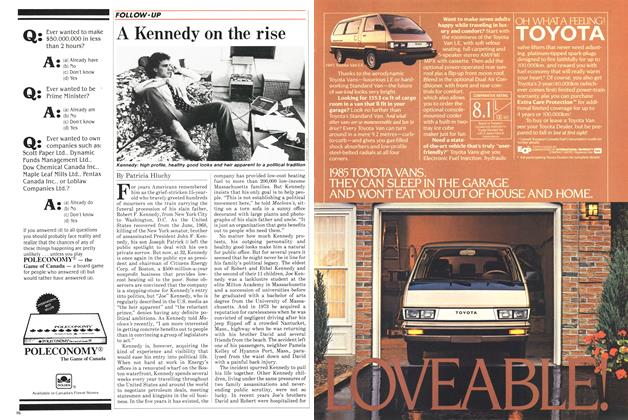 Article Preview: A Kennedy on the rise, December 1984 | Maclean's