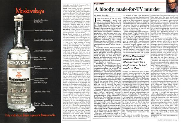 Article Preview: A bloody, made-for-TV murder, December 1984 | Maclean's