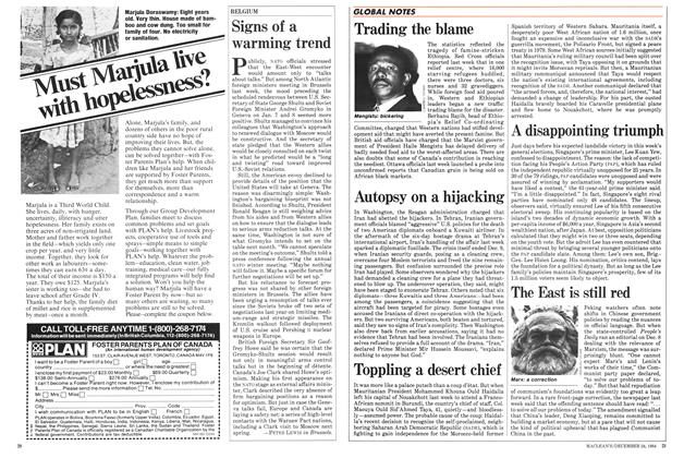 Article Preview: Signs of a warming trend, December 1984 | Maclean's