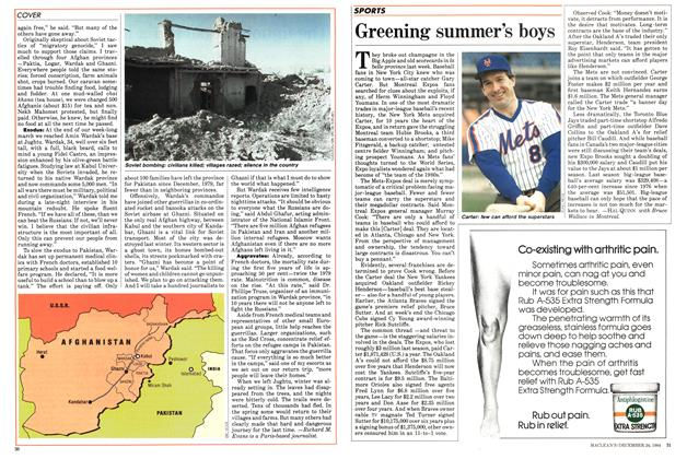 Article Preview: Greening summer's boys, December 1984 | Maclean's