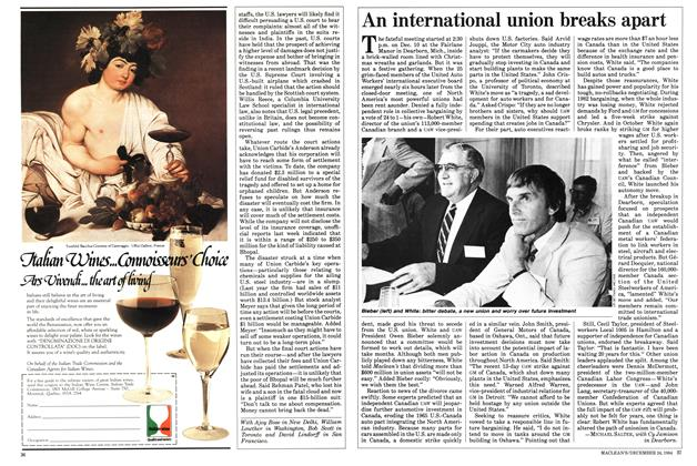 Article Preview: An international union breaks apart, December 1984 | Maclean's
