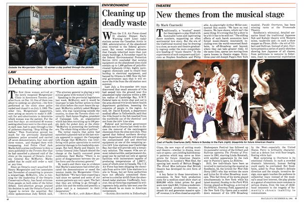 Article Preview: New themes from the musical stage, December 1984 | Maclean's