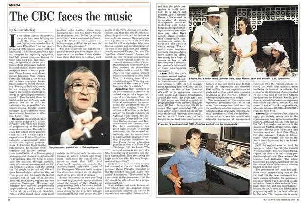 Article Preview: The CBC faces the music, December 1984 | Maclean's