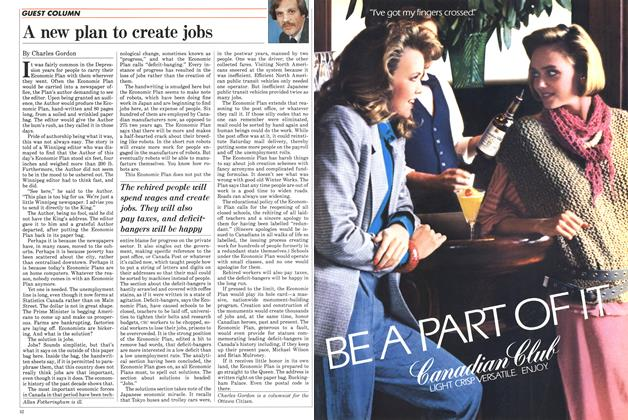 Article Preview: A new plan to create jobs, December 1984 | Maclean's