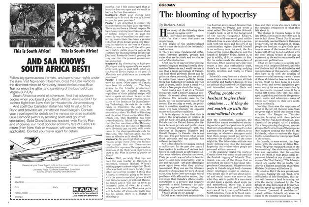 Article Preview: The blooming of hypocrisy, December 1984 | Maclean's
