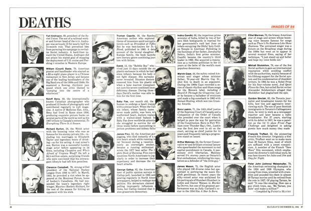 Article Preview: DEATHS, December 1984 | Maclean's