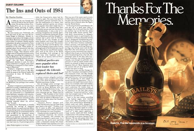 Article Preview: The Ins and Outs of 1984, December 1984 | Maclean's