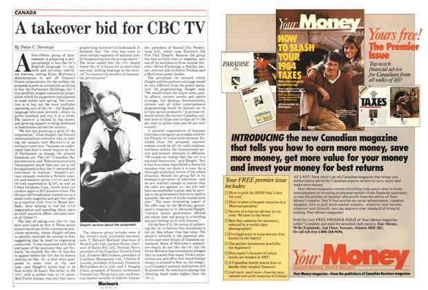 Article Preview: A takeover bid for CBC TV, December 1984 | Maclean's