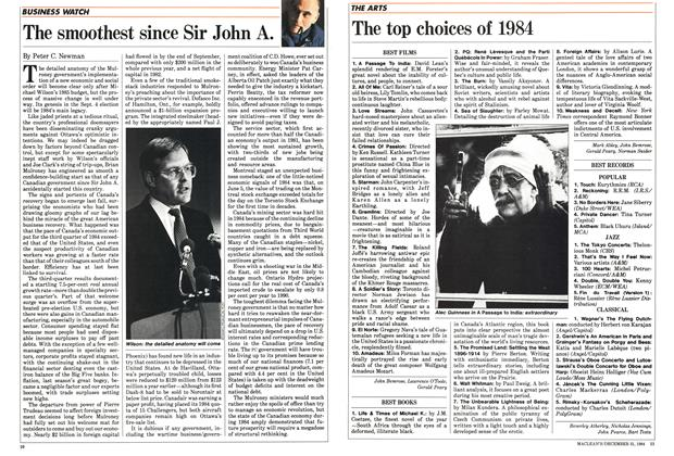 Article Preview: The smoothest since Sir John A., December 1984 | Maclean's