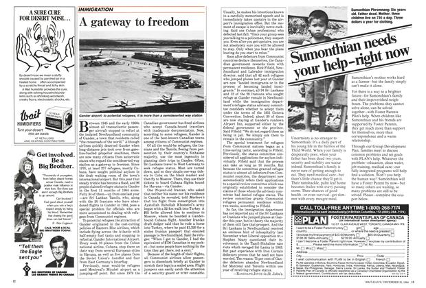Article Preview: A gateway to freedom, December 1984 | Maclean's