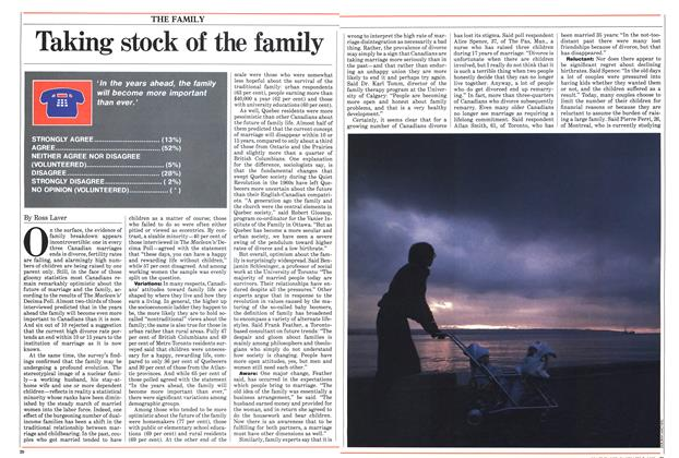 Article Preview: Taking stock of the family, January 1985 | Maclean's