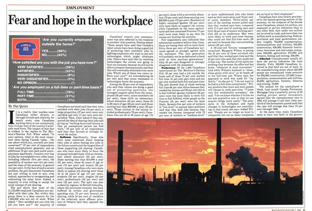 Article Preview: Fear and hope in the workplace, January 1985 | Maclean's