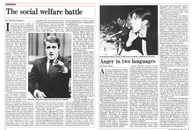 Article Preview: Anger in two languages, January 1985 | Maclean's