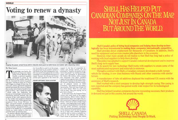 Article Preview: Voting to renew a dynasty, January 1985 | Maclean's