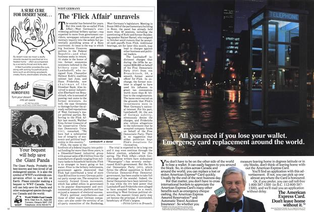 Article Preview: The 'Flick Affair' unravels, January 1985   Maclean's