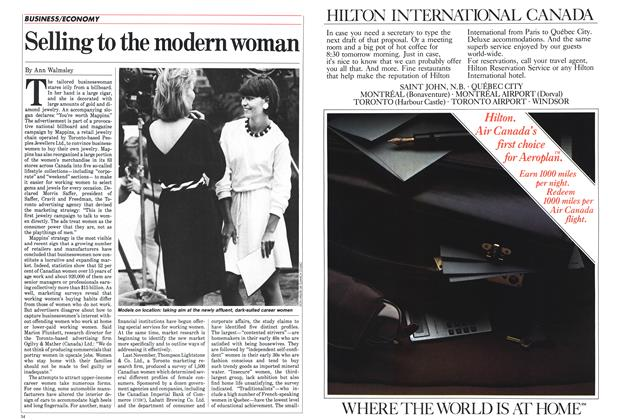 Article Preview: Selling to the modem woman, January 1985 | Maclean's