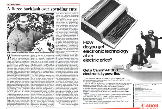 Article Preview: A fierce backlash over spending cuts, January 1985 | Maclean's