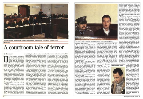Article Preview: A courtroom tale of terror, January 1985 | Maclean's