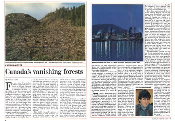 Article Preview: Canada's vanishing forests, January 1985 | Maclean's