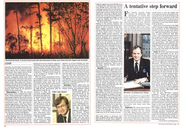 Article Preview: A tentative step forward, January 1985   Maclean's