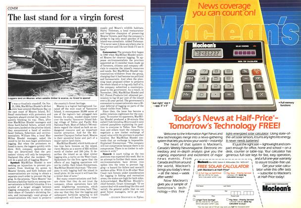 Article Preview: The last stand for a virgin forest, January 1985   Maclean's