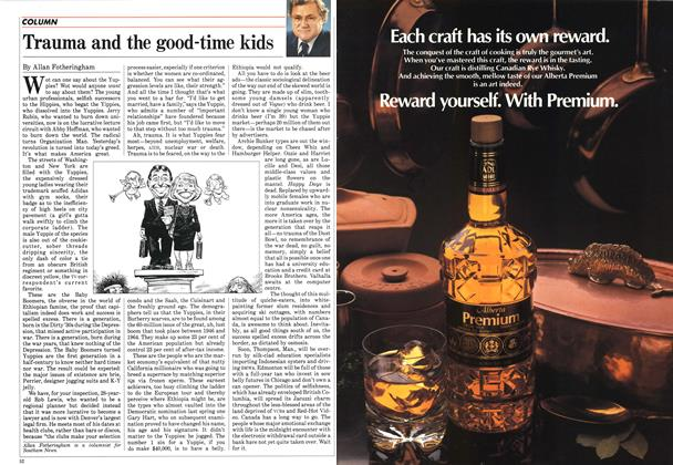 Article Preview: Trauma and the good-time kids, January 1985 | Maclean's