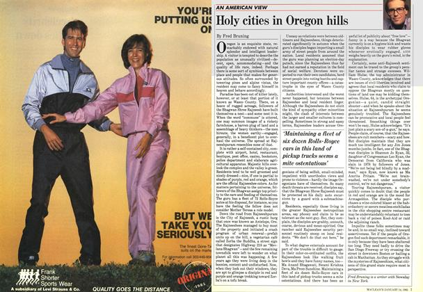 Article Preview: Holy cities in Oregon hills, January 1985 | Maclean's