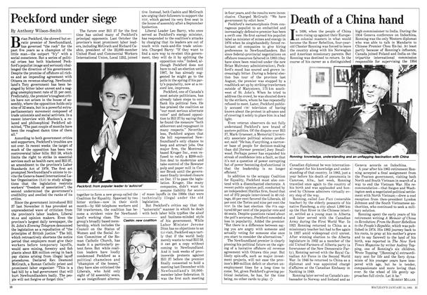 Article Preview: Peckford under siege, January 1985 | Maclean's