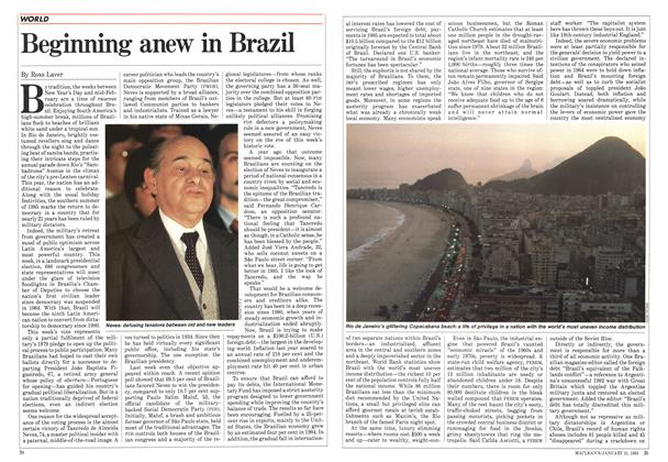 Article Preview: Beginning anew in Brazil, January 1985 | Maclean's