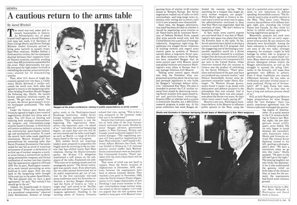 Article Preview: A cautious return to the arms table, January 1985 | Maclean's