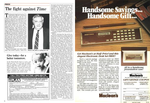 Article Preview: The fight against Time, January 1985 | Maclean's