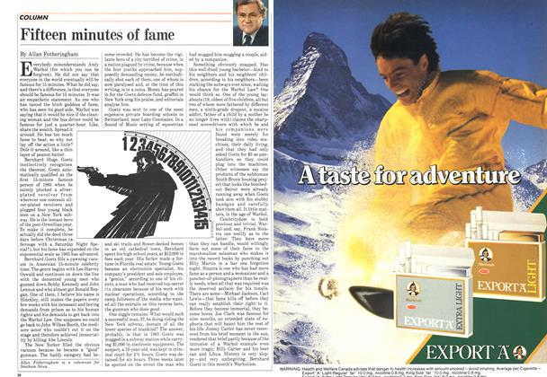 Article Preview: Fifteen minutes of fame, January 1985 | Maclean's