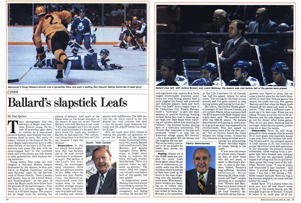 Article Preview: Ballard's slapstick Leafs, January 1985 | Maclean's