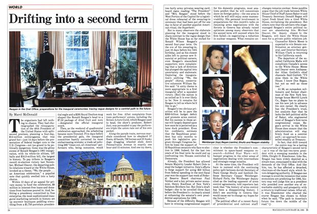 Article Preview: Drifting into a second term, January 1985   Maclean's
