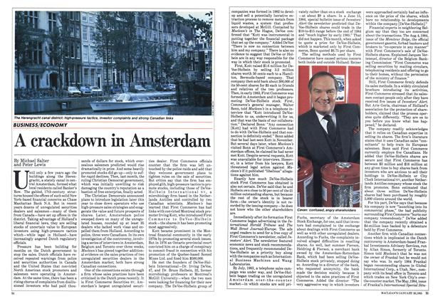 Article Preview: A crackdown in Amsterdam, January 1985 | Maclean's