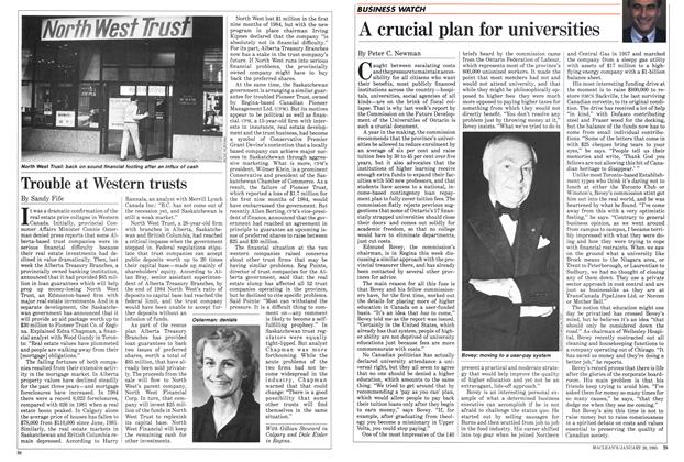Article Preview: Trouble at Western trusts, January 1985 | Maclean's