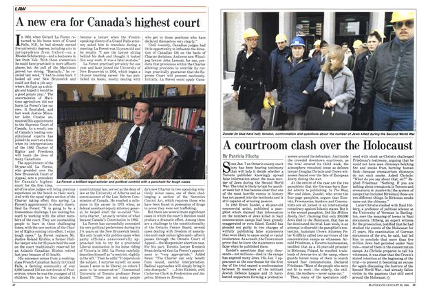 Article Preview: A new era for Canada's highest court, January 1985 | Maclean's