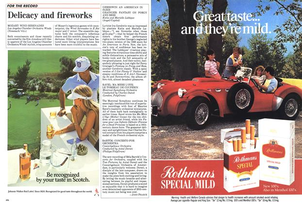Article Preview: Delicacy and fireworks, January 1985 | Maclean's