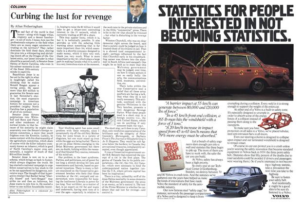 Article Preview: Curbing the lust for revenge, January 1985 | Maclean's