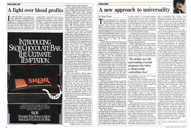 Article Preview: A fight over blood profits, January 1985 | Maclean's