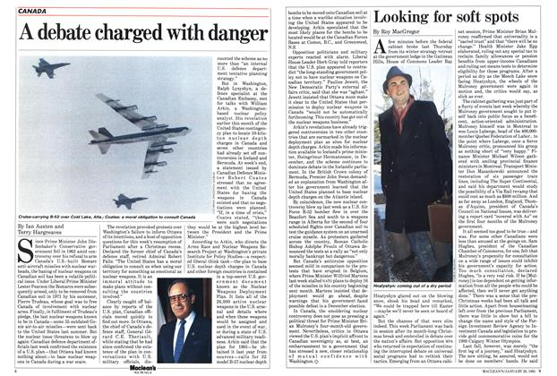 Article Preview: A debate charged with danger, January 1985 | Maclean's