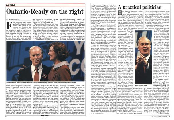 Article Preview: Ontario: Ready on the right, February 1985   Maclean's