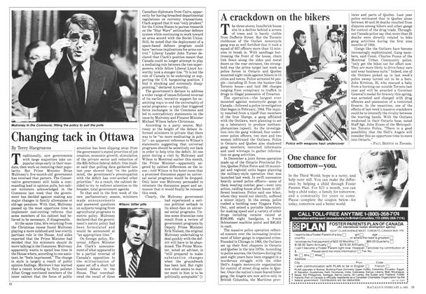Article Preview: Changing tack in Ottawa, February 1985 | Maclean's
