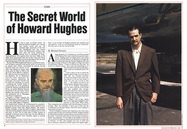 Article Preview: The Secret World of Howard Hughes, February 1985 | Maclean's